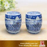 Chinese style excellent quality blue and white porcelain kid bar stools for garden