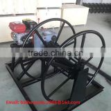 3T Cable winding machine with gasoline engine, Steel wire winding machine, wire rop winding machine