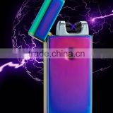 2017 Best sale electric plasma arc lighter tesla dual beam lighter Windproof Lighter