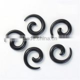 3mm Acrylic Ear Stretcher Expander Spiral Black Ear Expander Ear Plug
