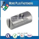 Made in Taiwan Black Phosphate Solid Brass Zinc Plated Off Cross Dowels Barrel Furniture Nut