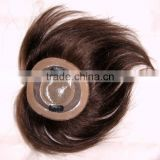 Hand tied toupee for men and women with top quality