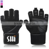 "Padded Anti-Slip Weight Lifting Gloves with 18"" Wrist Wraps Best for Men & Women"