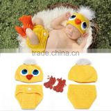 Baby Girls Toddler Infant Romper Jumpsuit Hat Shoes Set Photo Prop Outfits Clothes Duckling