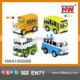 Hot selling Pull Back Small Bus Toy