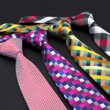 Digital Printing XL Silk Woven Neckties Silky Finish White