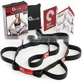 Wholesales Flexibible Elastic Stretch Strap Nylon Yoga Exercise Strap Band with 10 loops