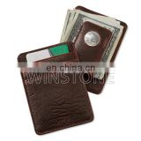 promotion leather magnet money clip and credit card holder