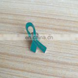 wholesale teal color ribbon shape metal badges, Trigeminal Neuralgia awareness lapel pin