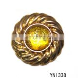 2015 high quality gold metal button