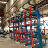 Pipe storage used a crane with what save space expansion cantilever shelves