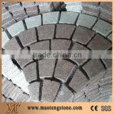 G684 flamed basalt pavers black granite spit mesh paving stone