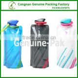 24oz Tourists novelty rubber band foldable water bottle for outdoor sport                                                                         Quality Choice