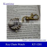boys key chain watch with retro metal bronzed chain spider pocket watch