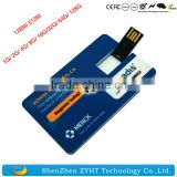 wholesale business card USB flash drive with printing logo credit card USB 1GB 2GB 4GB 8GB 16GB 32GB