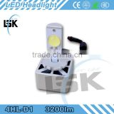single beam H7, H8, H10, H11, H16, 9005,9 006, D1, D3, D2, D4, P13, PSX26W, PSX24W, 5202W 3200lm 12v led motor headlamp kit
