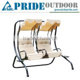 Outsunny Outdoor Garden Patio Covered Double Two Seat Balcony Swing Chair