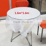 Biodegradable disposable PE plastic table sheets/ clear disposable table cloth cover sheets/ table cover