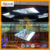 pyamid glass 3d holographic display sand table/models