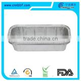 7.5 inch rectangle aluminium foil food tray box food container with lid bulk production                                                                         Quality Choice