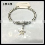 Silver Plated Single Chain Star Spring Elastic Bracelet