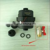 DN15mm black plastic material piston water meter