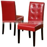 red leather dining chair with buttons XYN1371