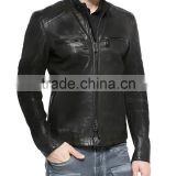 MENS SLIMFIT BIKER ROAD ARCHER OILED SUEDE LEATHER JACKET