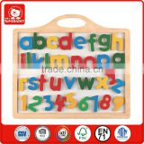 2015 popular children learning toys magnetic whiteboard letters and numbers wooden blackboard for kids early learning