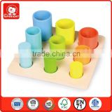 Top Bright Megge rainbow tube game children wooden toy shape sorting toy confirm to EN 71 and ASTM