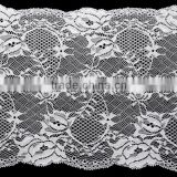 wholesale 20cm Width Lace Trim for Bra Briefs Elastic Polyester Nylon Lace Trim Stretch in stock