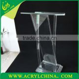 transparent plexiglass speak stage with 500mm*380mm*1180mm, square clear acrylic speak stage with gross weight 40kg