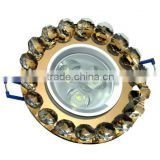 high quality! back wall lamp crystal ceiling LED Downlight 3w