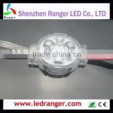 5m DMX512 24v LEDs RGB LED Pixel Module Lightings with Mini Decoder Clear cover with Lens for 5050 LEDs