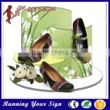 High quality low price custom shape clear acrylic shoe boxes