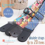 adjustable ukulele strap,personality customized hawaii guitar strap with cotton belt