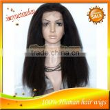5A Grade Brazilian Remy Hair Natural Color Light Yaki Lace Front Wig&Full Lace Wig For Sale