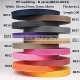25mm nylon webbing strap,PP webbing belt ,webbing tape ,nylon strap for backpack/bags/seat belt/pet leash(B13-B25)