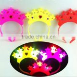 2016 New styles Light-Up Crown Headband Star with rhinestone Blinking LED Flashing For Birthday Xmas Party