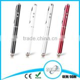 3 in 1 laser pointer led light ball round head stylus touch pen with ball point pen for mobile phone