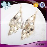 Factory wholesale western jewelry gold plate zinc alloy multilayer slice evil eye earring