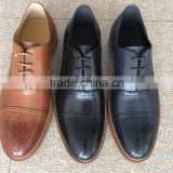 Fashion style Thick with hard bottom hollow out oxfords lace-up shoes men's singles rubber soles