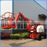 joystick controls compact articulated boom lift ,low pay boom loader with 250kg lifting capacity for sale