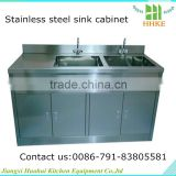 metal kitchen sink base cabinet/stainless steel kitchen sink cabinet/single bowl stainless steel water sink with drainboard