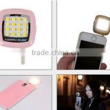 New LED FLASH light Mini Selfie Sync Flashlight for iPhone 6 5s Galaxy S5 Camera Smart Phone Multiple Photography 16 led light
