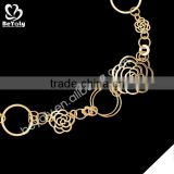 Fashion circle flower charms models pendant necklace gold