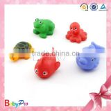 Hot Sale Floating Promotional Plastic Bath Toy Rubber Toy Sea Animals