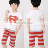 imported childrens clothin with nice kids wear pictures Boys Cartoon Suits t-shirt kids with low price