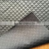 Embossed Leather fabrics for garment, PU with poly interlock bonded fabric for furniture and bag