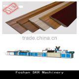 SKR machinery WPC PVC PP PE Wood-plastic Production Line Solid Composite Wood Plastic Extruder for threshold stair case